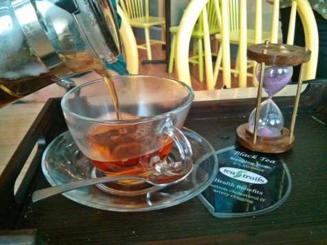 Blueberry Mist Tea at Tea Trails
