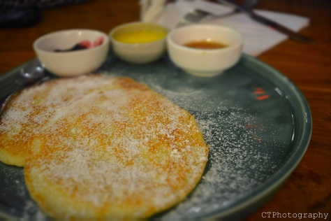 Buttermilk Pancakes with maple syrup at The Nutcracker